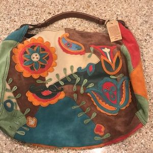 New Lucky Brand suede purse